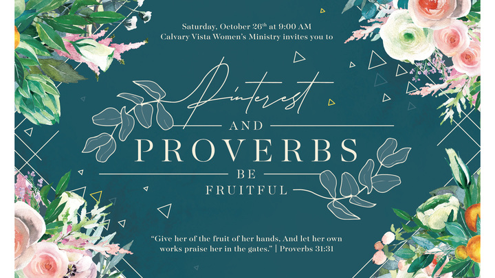 Pinterest & Proverbs: BE Fruitful  logo image