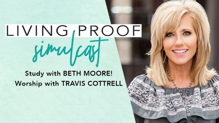 "Beth Moore ""Living Proof"" Simulcast logo image"