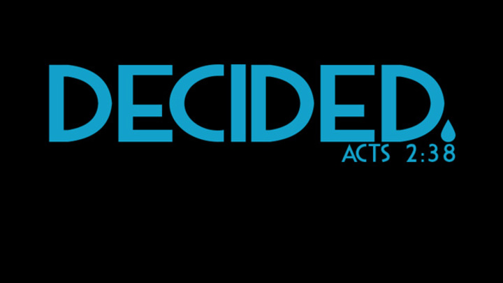 Decided - Water Baptism logo image