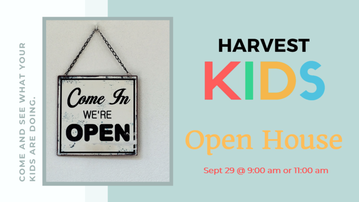 Harvest Kids Open House logo image