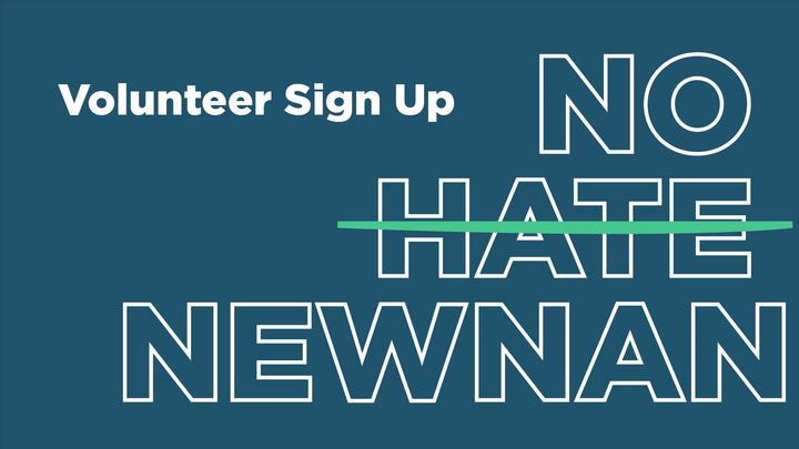 9/27/19 : No Hate Newnan Volunteer Sign Up logo image