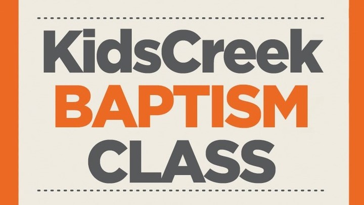 Kids Creek Baptism Class  2nd - 5th Graders logo image