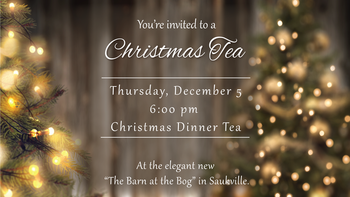 Dinner Christmas Tea: December 5 at 6:00 PM logo image