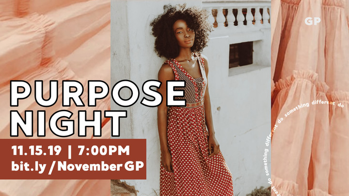 Purpose Night - November logo image