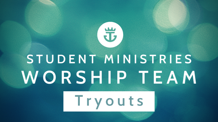 Student Ministries Worship Team Tryouts logo image