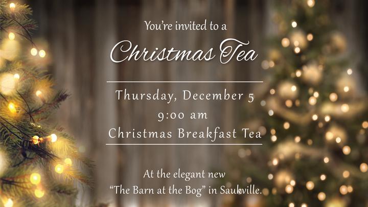 Breakfast Christmas Tea: December 5 at 9:00 AM; doors open at 8:30 AM.* logo image