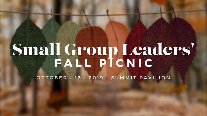 Small Group Leaders' Picnic logo image