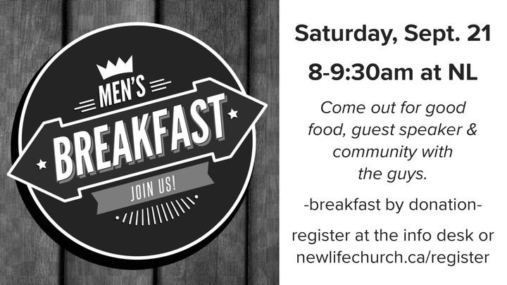 Men's Breakfast - Sept 21 logo image