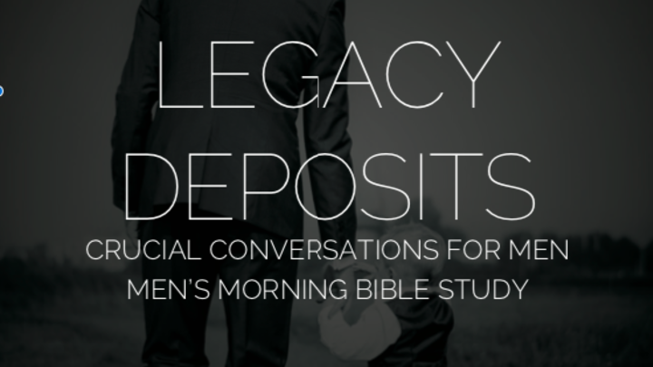 "Journey Group, ""Legacy Deposits - A Men's Morning Bible Study"" logo image"
