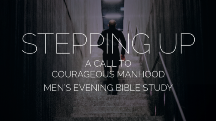 "Journey Group, ""Stepping up,"" a Men's evening Bible study. logo image"