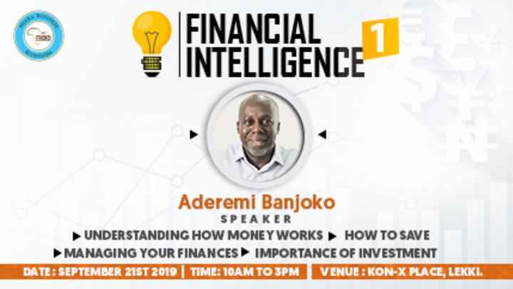 Financial Intelligence Seminar - with Dr Aderemi Banjoko logo image