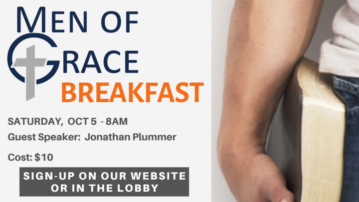 Men of Grace Breakfast. - October logo image