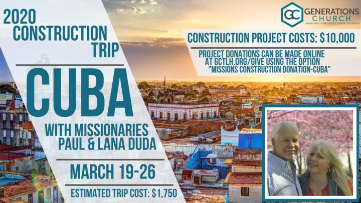 2020 Cuba Construction Trip Interest Meeting  logo image