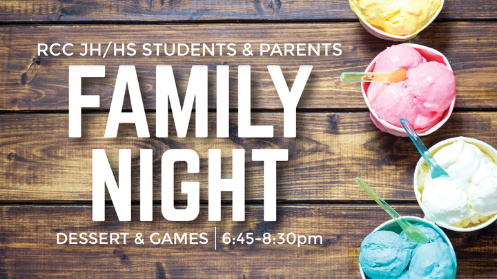 Student Ministries Family Night logo image