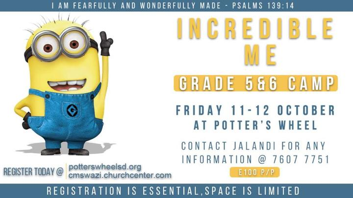 Incredible Me Grade 5 & 6 Camp  logo image