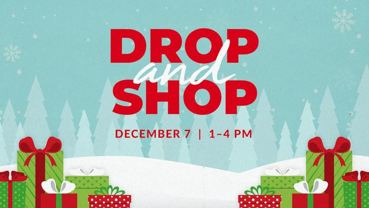 Christmas Drop and Shop logo image