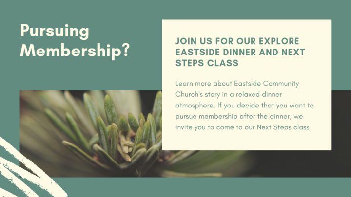 Explore Eastside Dinner and Next Steps Class logo image