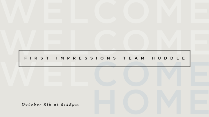 First Impressions Ministry Huddle logo image