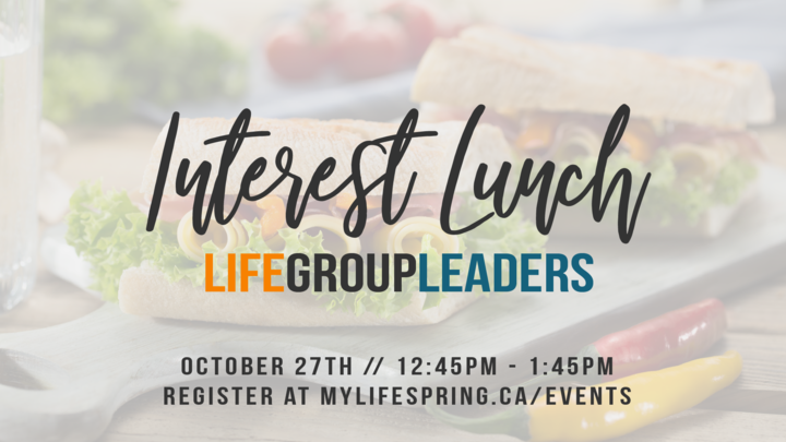 Life Group Leaders Interest Lunch logo image