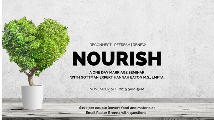 Nourish: A One Day Marriage Seminar logo image