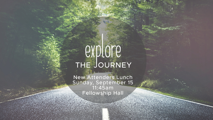 Explore the Journey New Attenders Lunch logo image