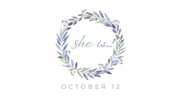 She Is... logo image