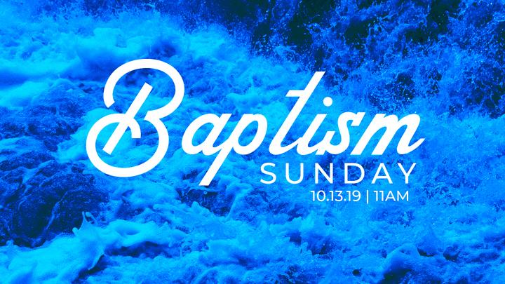 Baptism Sunday October 2019 logo image