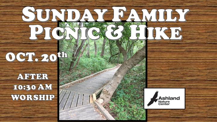 October 20, 2019:  Sunday Family Picnic & Hike logo image