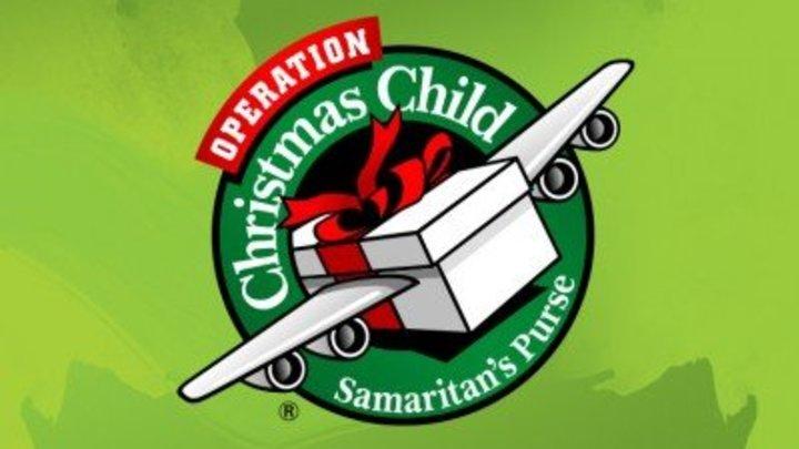 Operation Christmas Child Charlotte processing center trip logo image