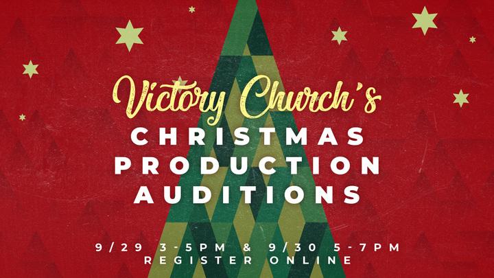 Christmas Play Auditions logo image