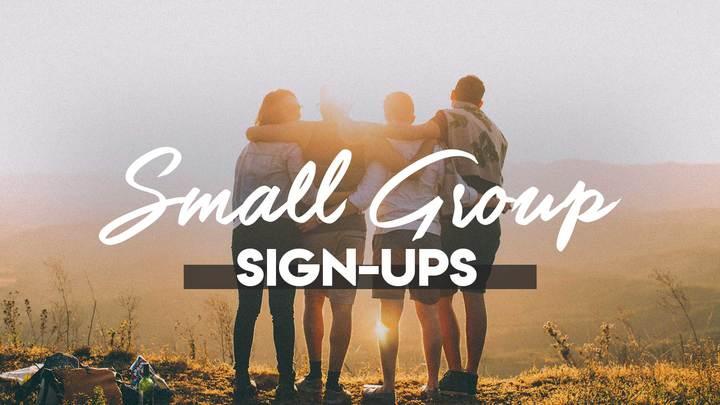 Fall Small Group Sign Up Weeks logo image