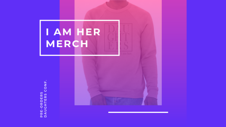 I AM HER Merch Pre-Orders logo image