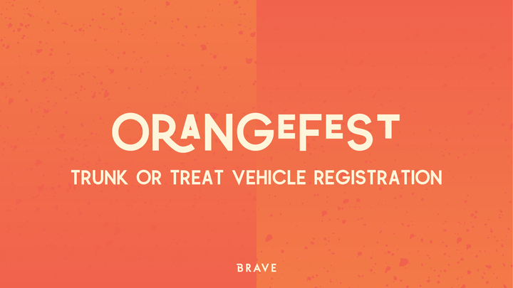 Orangefest '19 - Trunk or Treat Vehicle Registration logo image