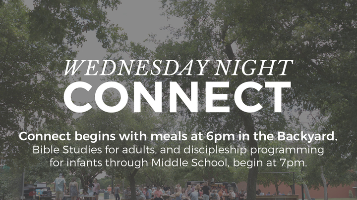 Connect Meals in The Backyard - Wednesday, September 25, 2019 logo image
