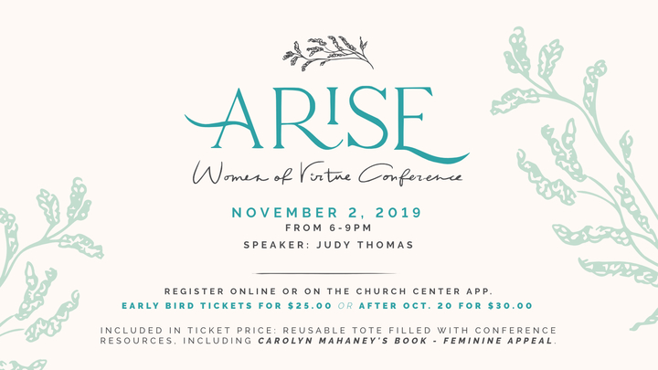 Arise! Women of Virtue Conference logo image