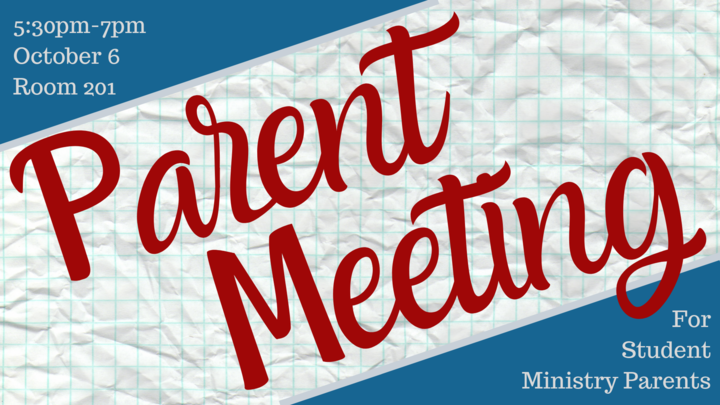 Student Ministry Parent Meeting logo image