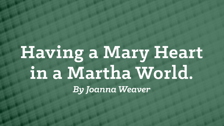 "Women's Study ""Having a Mary Heart in a Martha World"" logo image"