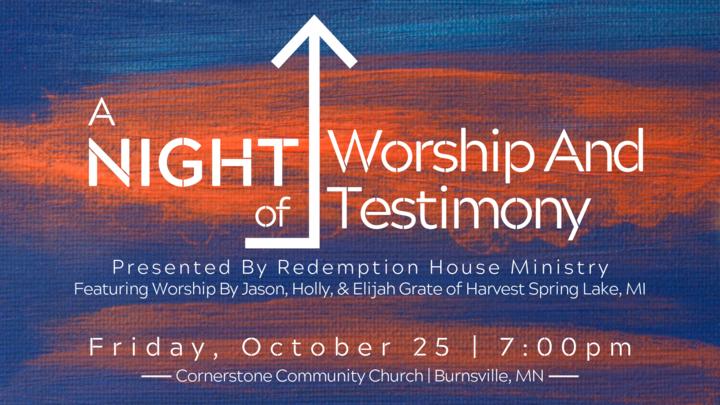 Redemption House Night of Worship & Testimony logo image