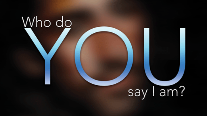 """""""But who do you say that I am?"""" Women's Bible Study logo image"""