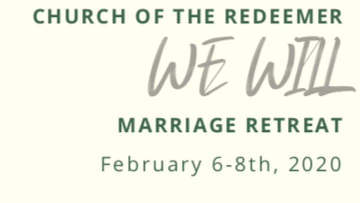 We Will: Marriage Retreat 2020 logo image