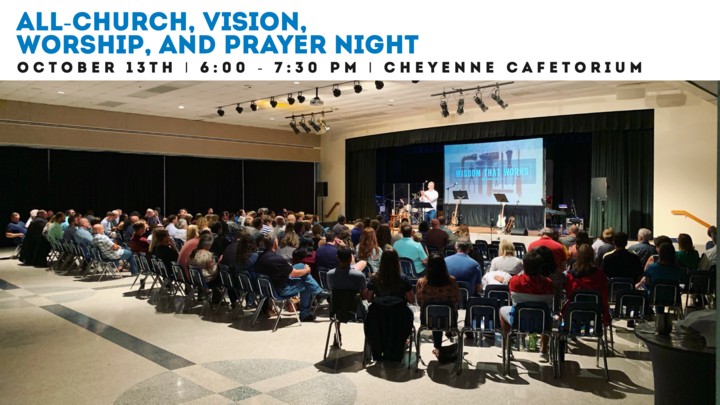 All Church Vision, Worship & Prayer Night  logo image