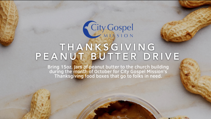 Annual City Gospel Mission Thanksgiving Peanut Butter Drive logo image