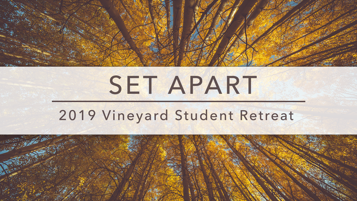 2019 Vineyard Student Retreat logo image