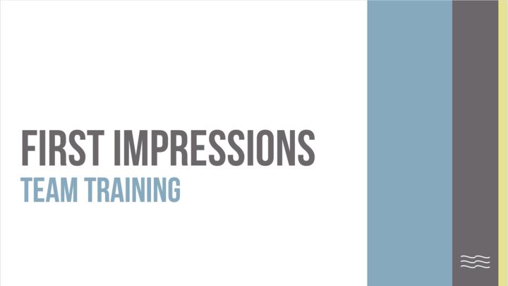 First Impressions Team Training logo image
