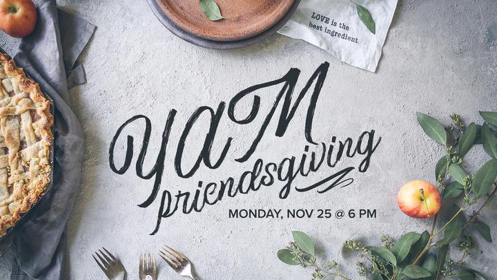 YAM Friendsgiving logo image