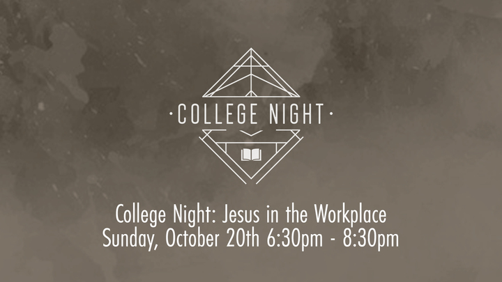 College Night: Jesus in the Workplace logo image
