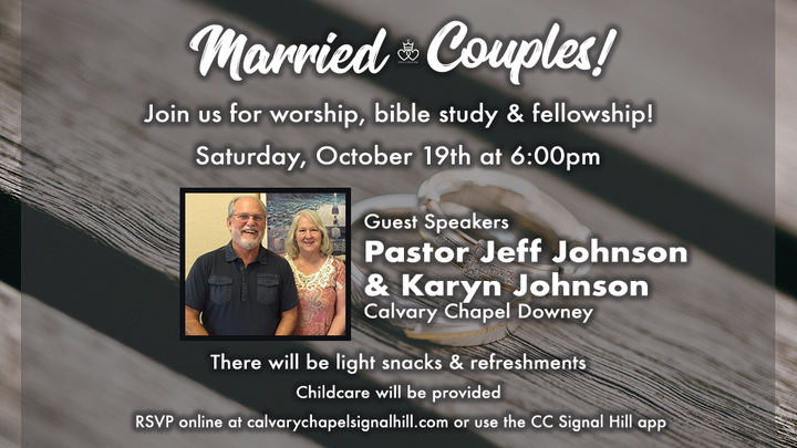 Marriage Ministry Study - Special Guests: Pastor Jeff Johnson & Karyn Johnson logo image