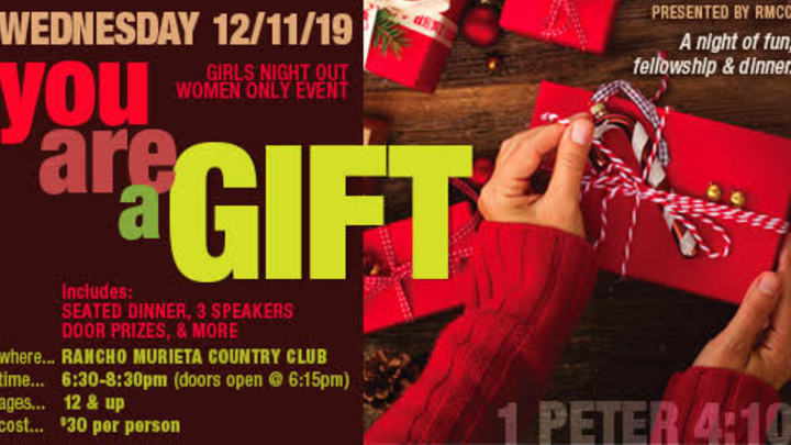 Women's Christmas Banquet - You are a Gift! logo image