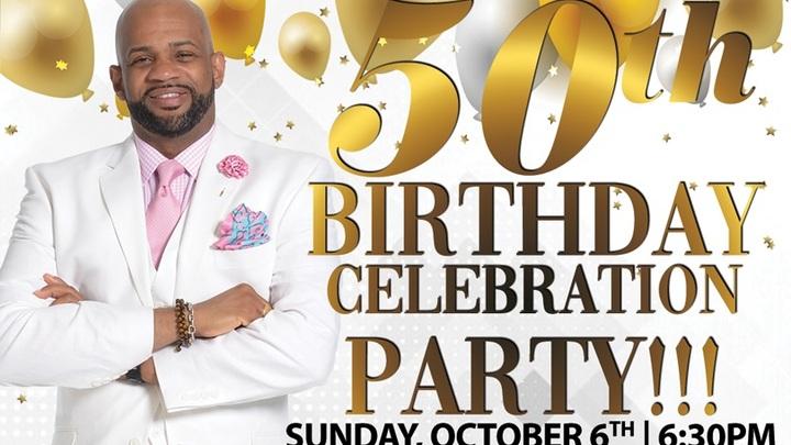 Pastor Byron Stevenson's 50th Birthday Celebration - October 6th at 6:30 PM logo image