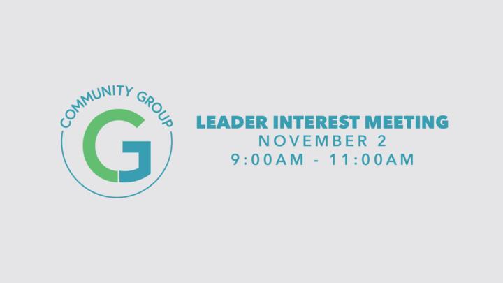 Community Group Leader Interest Meeting logo image